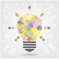 Creative light bulb idea concept background design for poster flyer cover brochure business dea abstract vector Royalty Free Stock Photography