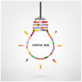Creative light bulb symbol idea concept background design for poster flyer cover brochure business idea abstract background vector Stock Images