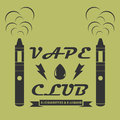 Creative logotype for the club shop or electronic cigarettes.