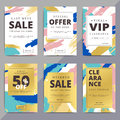 Creative luxury abstract social media web banners for cell phone Royalty Free Stock Photo