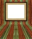 Creative natural pine plank interior
