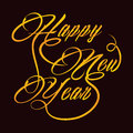 Creative new year greeting vector illustration Royalty Free Stock Photography