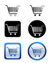 Creative pixel shopping cart icon Stock Photo