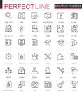 Creative process thin line web icons set. Outline icon design.