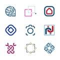Creative puzzle edit future it software technology development company logo enjoy Royalty Free Stock Image