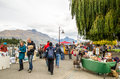 Creative Queenstown Arts and Crafts Markets which is located at the lake front at Earnslaw Park in Queenstown. Royalty Free Stock Photo