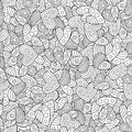 Creative Seamless Pattern of Contour Hearts for Page of Coloring