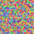 Creative Seamless Pattern of Iridescent Triangles. Royalty Free Stock Photo