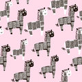 Creative seamless pattern with zebra. Childish texture for fabric, textile. Vector background Royalty Free Stock Photo