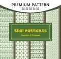 Creative Seamless Traditional Thai Pattern Template in Pixel Style