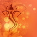 Creative shiny illustration of Hindu Lord Ganesha. Stock Photo