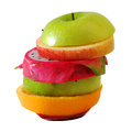 Creative slide compose summer fruit mixed with