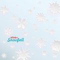 Creative snow template for christmas and winter graphics Stock Image