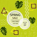 Creative Spring Sale headers or banners with discount offer. Art posters. Design for seasonal clearance. It can be used Royalty Free Stock Photo