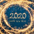 Creative Square Greeting card Happy New Year 2020 Royalty Free Stock Photo