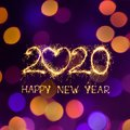 Creative Square holiday web banner Happy New Year 2020 Royalty Free Stock Photo