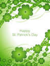 Creative St. Patricks day background with Clover Royalty Free Stock Photography