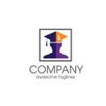 Creative Student loan financial logo concept, graduate hat logo