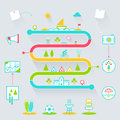 Creative Summer Outdoor Activities Infographics Icons Elements Royalty Free Stock Photo