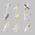 Creative sword collection set create by vector Royalty Free Stock Photography