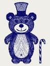 Creative teddy bear Stock Images