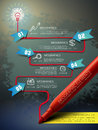 Creative template with mark pen drawing flow chart infographic Royalty Free Stock Photo