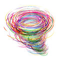 Creative tornado abstract of colorful circles Royalty Free Stock Images