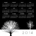 Creative tree calendar for print or web Stock Image