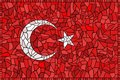 Creative TURKEY national flag Royalty Free Stock Photos