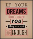Creative typography poster. Vintage playbill design style. Inspirational quote. Royalty Free Stock Photo