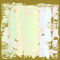 Creative universal abstract greeting cards in green and blue and yellow and pink and brown tones.