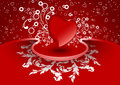 Creative Valentine greeting card with heart in red color, vector Royalty Free Stock Photos