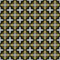 Creative vintage seamless texture with golden fractal ornaments