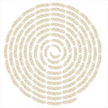 Creative wheat swirl background Royalty Free Stock Photo