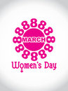 Creative women's day design element. Stock Photography