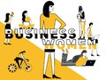 Creative Word concept Business Woman and People doing things