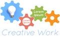 Creative work light bulb gears