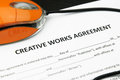 Creative Works Agreement Stock Images