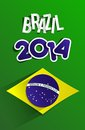 Creative world cup brazil illustration Royalty Free Stock Images