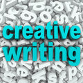 Creative writing letter background creativity imagination the words on a d of random letters to illustrate focusing your on Royalty Free Stock Photography