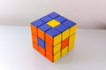 Creatively solved rubiks cube problem solving concept Stock Photography