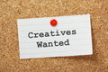 Creatives wanted the phrase typed on a paper note and pinned to a cork notice board Stock Images