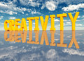 Creativity computer generated d illustration with the word Stock Images