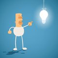 Creativity concept. Knowledge is light Royalty Free Stock Photo