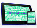 Creativity tablet shows originality innovation and imagination showing Stock Image