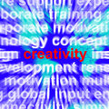 Creativity Word Representing Innovative Ideas And Imagination Royalty Free Stock Image