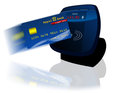 Credit card bank reader nfc Royalty Free Stock Photo