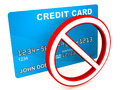 Credit card blocked Royalty Free Stock Photo