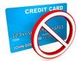Credit card blocked Royalty Free Stock Photo
