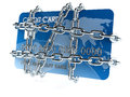 Credit card with chain